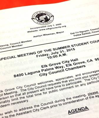 Agenda - Mock City Council Meetings