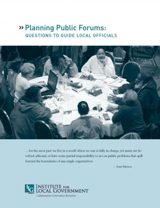 Image of Planning Public Forums: Questions to Guide Local Officials