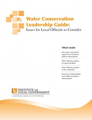 Image of Water Conservation Leadership Guide: Issues for Local Officials to Consider
