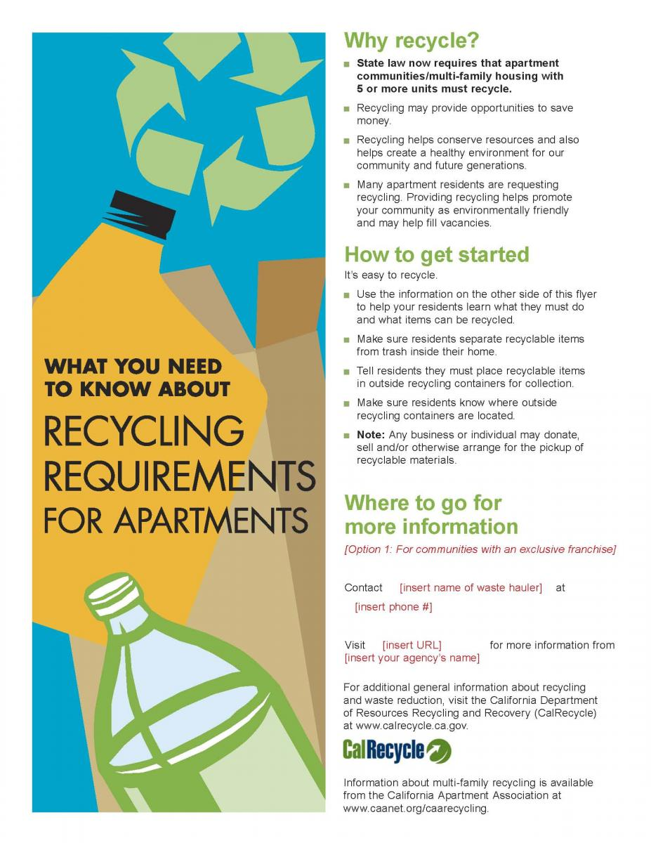 English and Spanish Language Commercial Recycling Flyer Templates ... English and Spanish Language Commercial Recycling Flyer Templates (2012 Update)