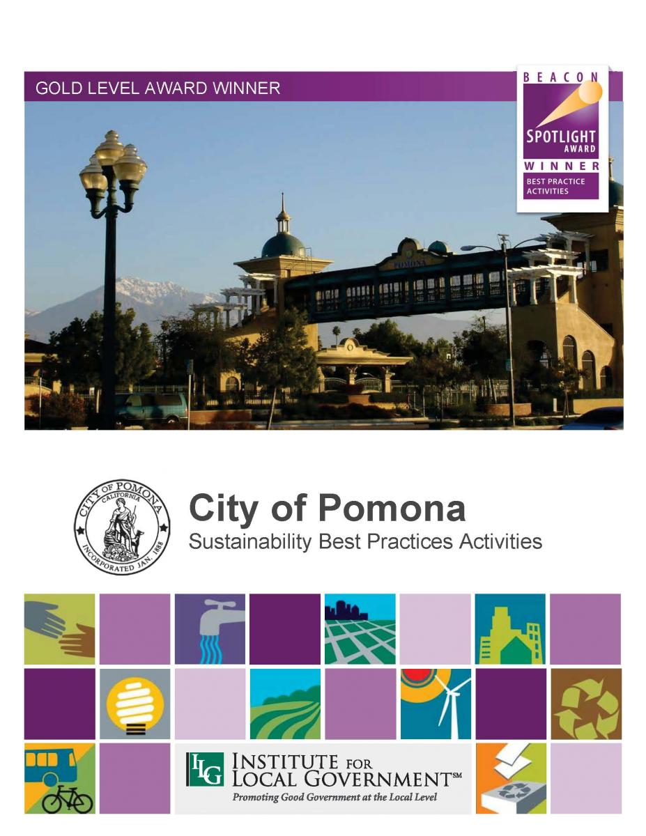City of pomona sustainability best practices activities city of pomona sustainability best practices activities institute for local government publicscrutiny Images