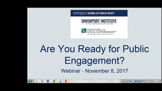 Are You Ready for Public Engagement?