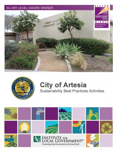 City of Artesia Sustainability Best Practice Activities