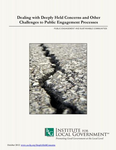 Image of Deeply Held Concerns and Other Challenges to Public Engagement Processes