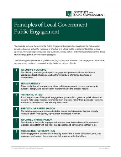 Image of Principles of Local Government Public Engagement