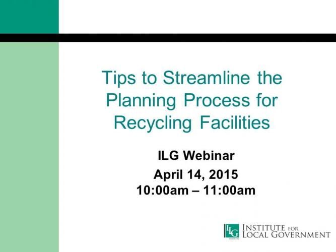 Tips to Streamline the Planning Process for Recycling Facilities