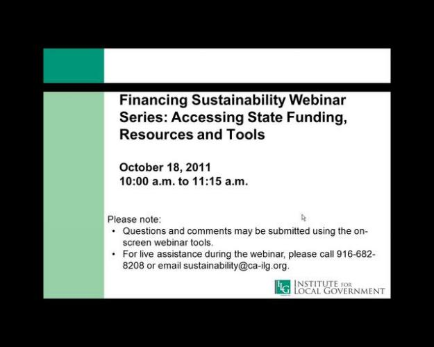 Accessing State Funding, Resources and Tools