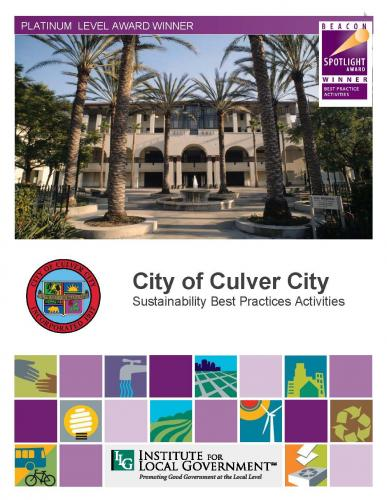 City of Culver City Sustainability Best Practices Cover