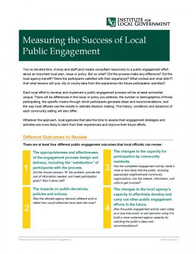 Image of Measuring the Success of Local Public Engagement