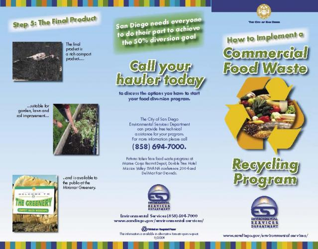 waste reduction recycling resources signs brochures institute