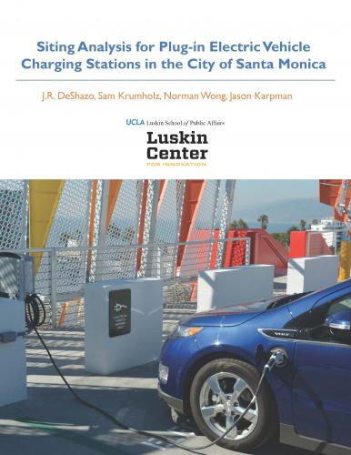 PEV Chargin Stations in the City of Santa Monica