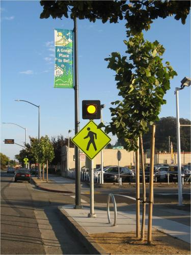 Illuminated crosswalk on San Pablo Avenue