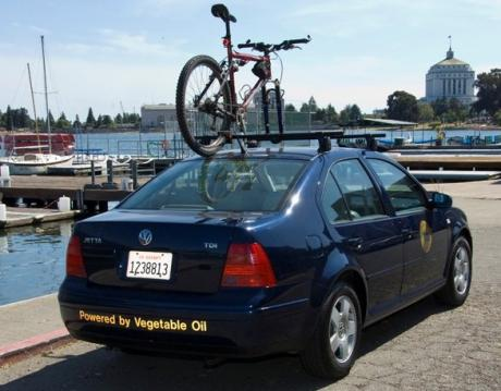 Image of Alameda County Volkswagon Jetta that runs on waste vegetable oil