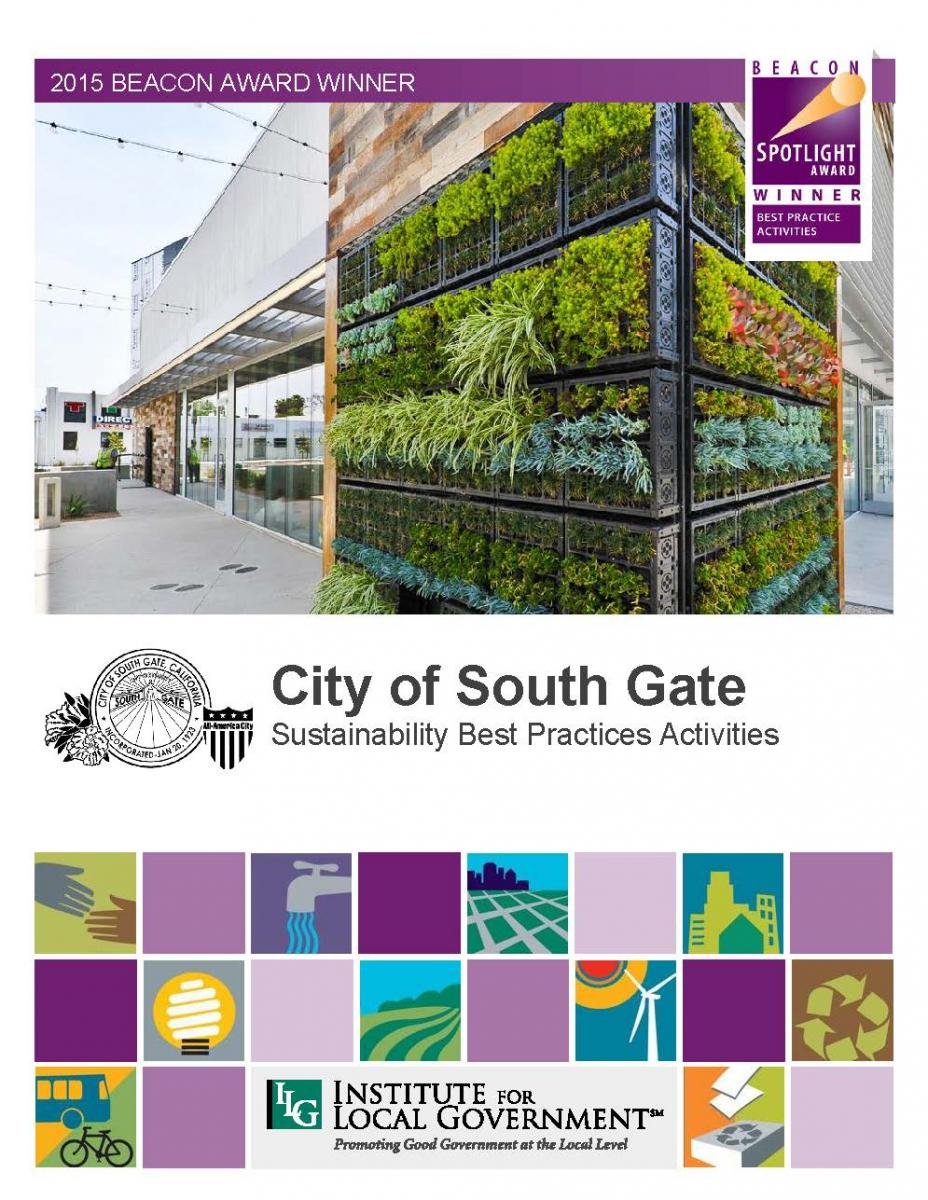 City Of South Gate >> City Of South Gate Sustainability Best Practice Activities