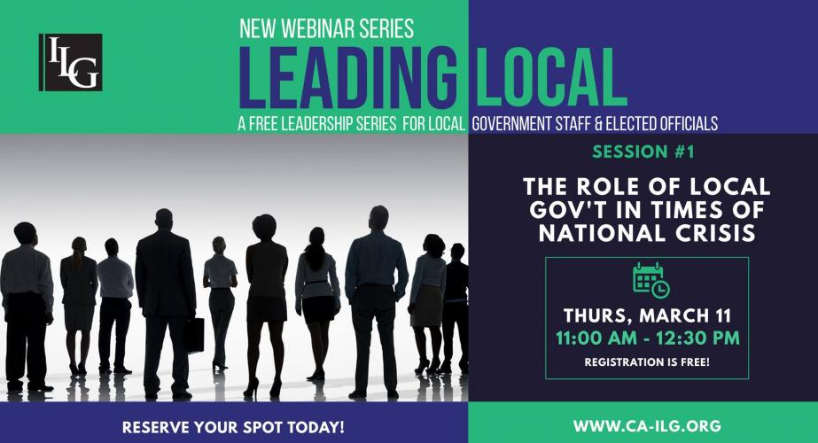 New Webinar Series: LEADING LOCAL