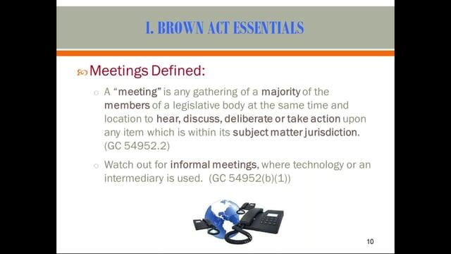 The Brown Act