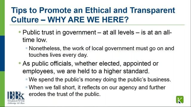 Tips to Promote an Ethical and Transparent Culture