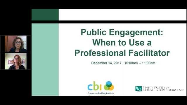 Public Engagement: When to Use a Professional Facilitator