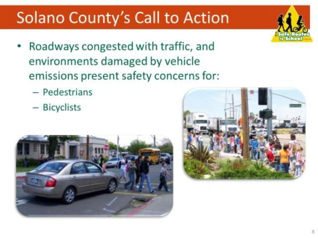 Webinar on Solano County Safe Routes to School