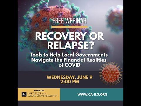 Recovery or Relapse? Tools to Help Local Governments Navigate Financial Realities of COVID