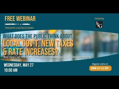 New Public Poll on Local Taxes, Rate Increases & More – Informing Policy Decisions