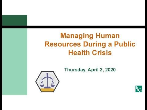 Managing Human Resources During a Public Health Crisis
