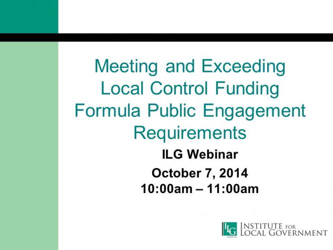 Meeting and Exceeding LCFF Public Engagement Requirements