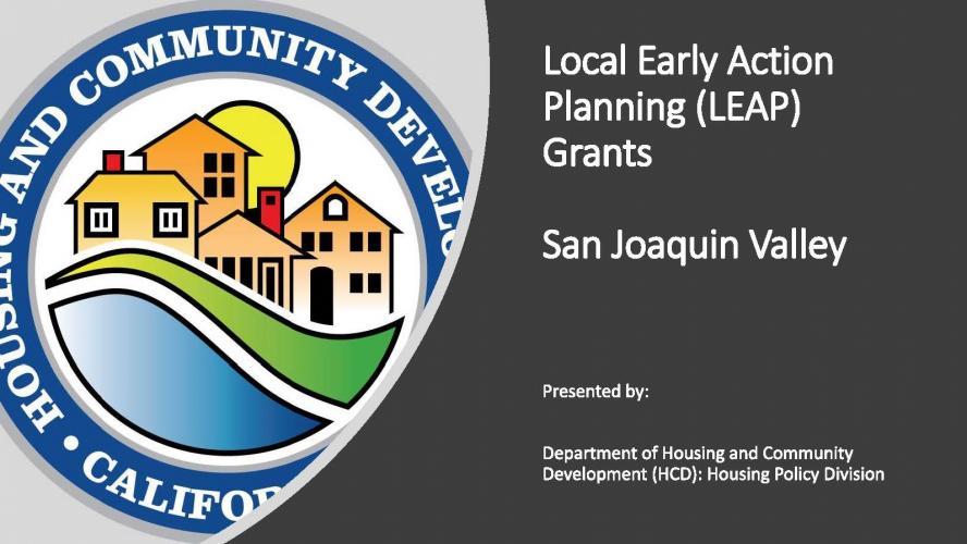 San Joaquin Valley LEAP Workshop