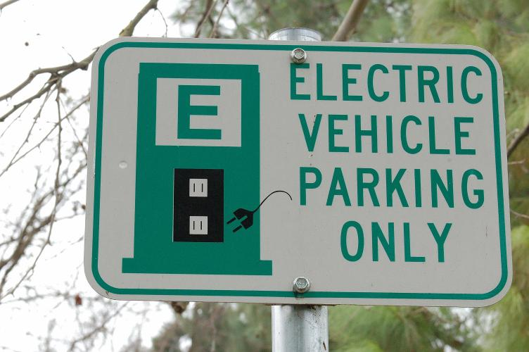 Image of Electric Vehicle Parking Sign