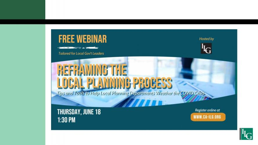 Reframing the Local Planning Process:  Tips and Tools to Help Local Planning Departments Weather the COVID Crisis