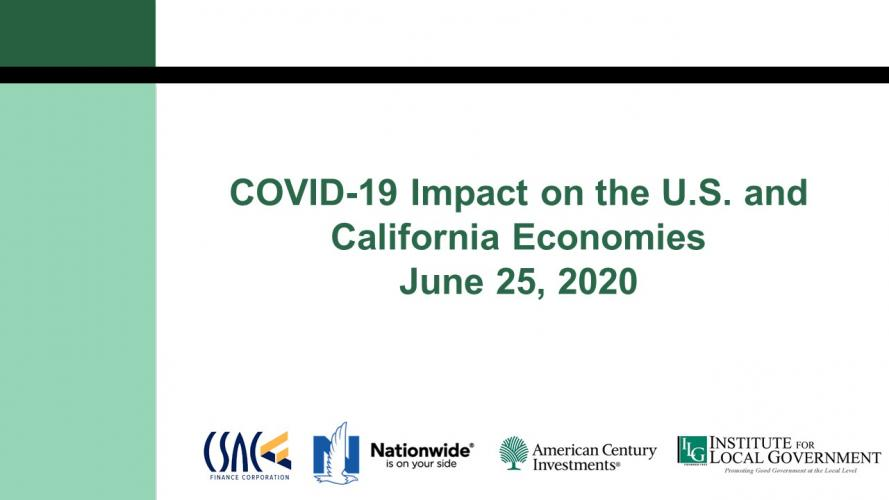 COVID-19 Impact on the U.S. and California Economies