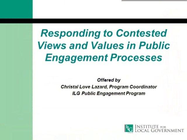 Webinar on Effective Public Engagement